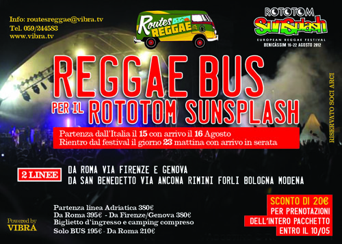 Routes Reggae  Bus per Rototom Sunsplash
