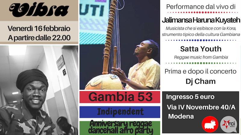 Venerdi 16 Febbraio Gambia 53 Independent Anniversary, Dancehall Afro Reggae Party