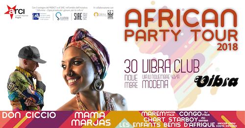 Venerdi  30 Novembre 100% JAMAICA presenta: AFRICAN PARTY w/ MAMA MARJAS,  DON CICCIO + guest