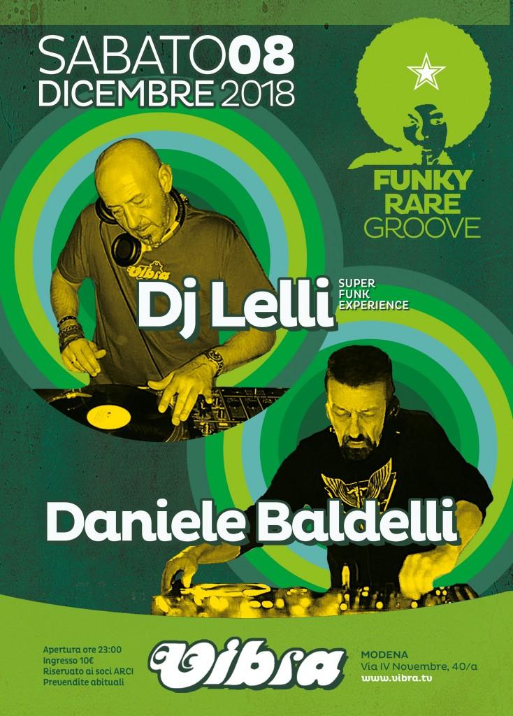Sabato 8 Dicembre  DJ LELLI + DANIELE BALDELLI