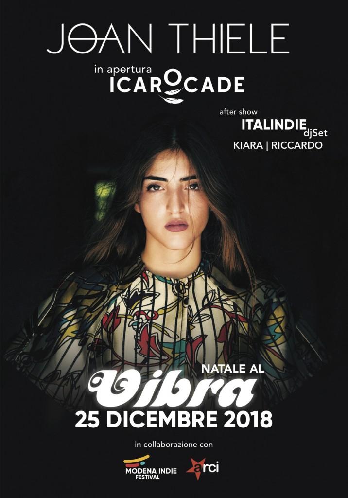 Martedi 25 Dicembre Natale al vibra con Joan Thiele + Icaro Cade live + Italindie djset con Kiara e Riccardo