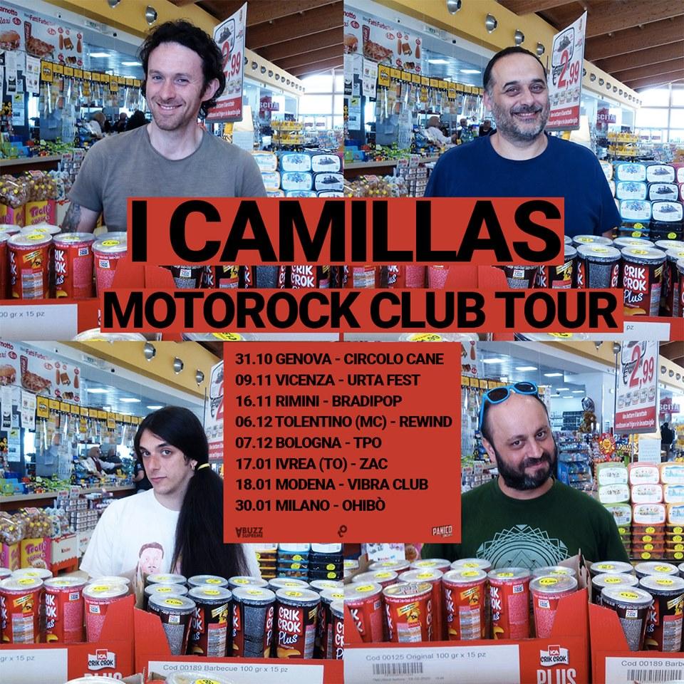 Sabato 18 Gennaio  I CAMILLAS live  / Laika Mvmnt
