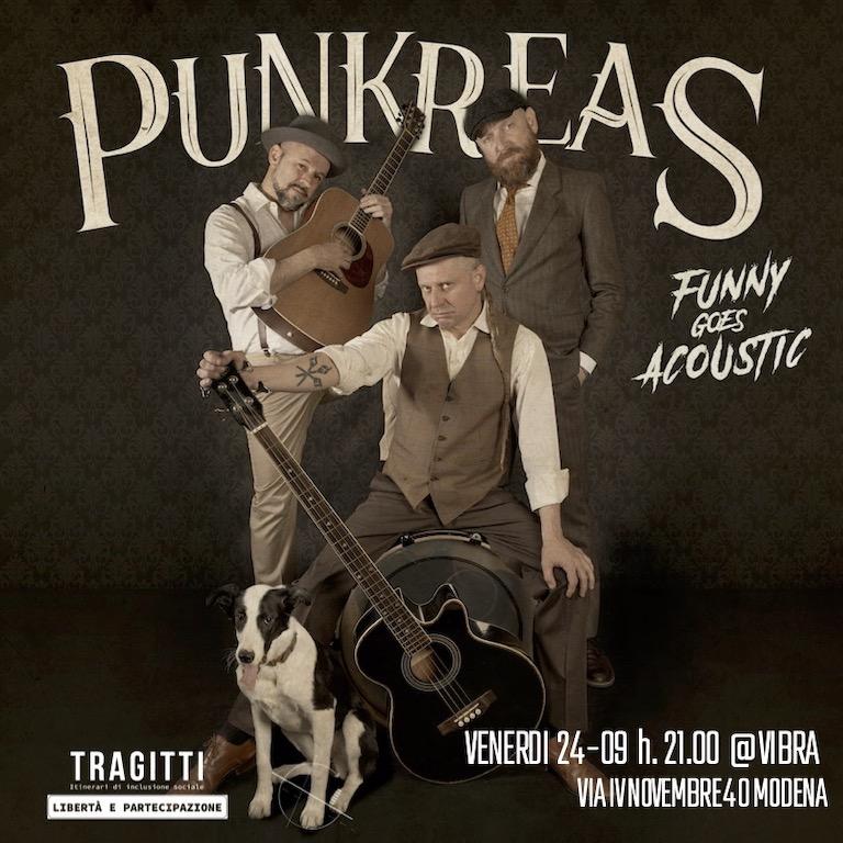 Venerdi 24 Settembre PUNKREAS, funny goes acoustic tour