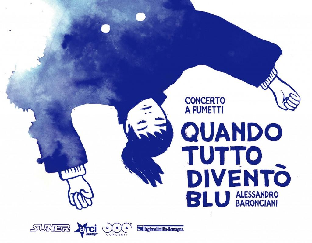 Venerdi 22 Ottobre Quando tutto divento blu concerto a fumetti. ft. Davide Toffolo